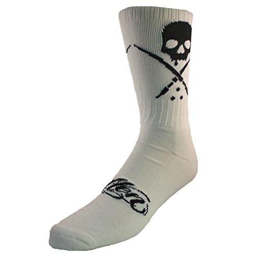 Sullen Clothing - Sullen Art Collective Herren Socken Totenkopf Logo - Standard Crew Socks Weiß Gr. 39-44
