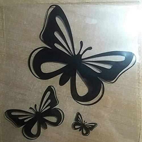 vbncvbfghfgh Mariposa Moda Pegatinas de Coches 3D Coche Fibra de Carbono Vinilo...