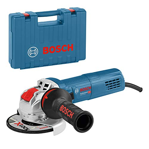 Bosch Professional GWX 9-115 S - Amoladora angular (900 W, 2800-11000 rpm, X-LOCK, Ø disco 115 mm, velocidad variable, en maletín)