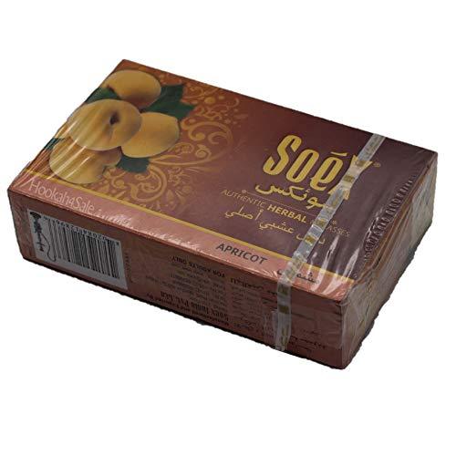 Soex Apricot pflanzliche Shisha Melasse ohne Nikotin Wasserpfeife 50 g