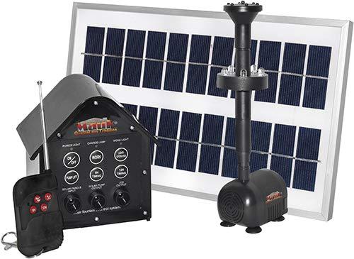 Mauk 2,4 Watt Solar- Teich- Pumpe 3Watt Set mit LED und Remote Control