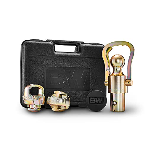 B&W Trailer Hitches OEM Gooseneck Ball & Safety Chain Kit for Ford/GM/Nissan...
