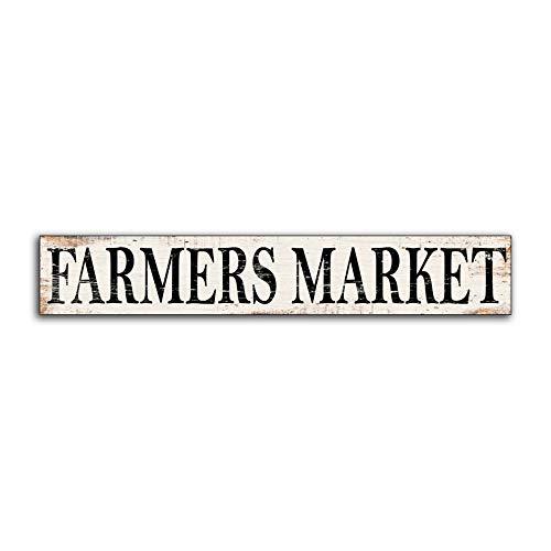 Letitia48Maud Farmers Market Sign Rustique Farm Sign Vintage March/é Sign Farmhouse Sign Fixer Upper Joanna Gaines inspir/é Magnolia Home