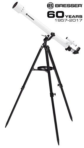 Bresser Linsenteleskop Classic 60/900 AZ Starterpaket mit azimutalem Stativ und Zubehör für den perfekten Einstieg in die Astronomie