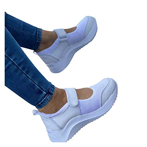 Briskorry Damen Mesh Sommerschuhe Plateau Fitness Sneakers Air Sportliche Sommer Atmungsaktiv Freizeitschuhe Walkingschuhe Laufschuhe Laufschuhe Walking Schuhe Turnschuhe Sneaker