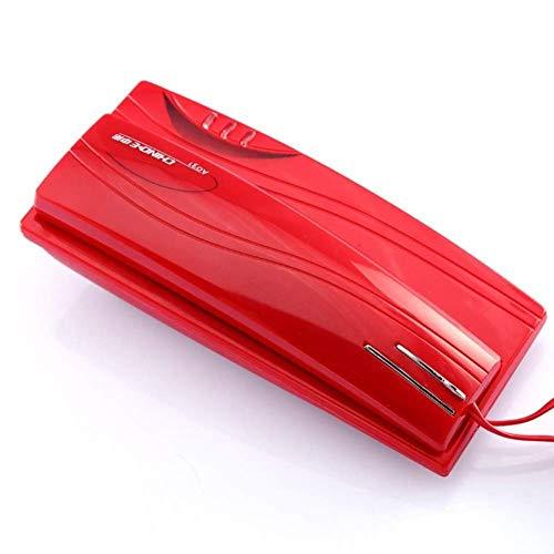Mini teléfono de pared Teléfono con cable Teléfono Hogar Teléfono fijo Extensión de pared Oficina Hotel Teléfono para el hogar Cocina Hotel Oficina (rojo) Resistente al desgaste, cancelación de ruido