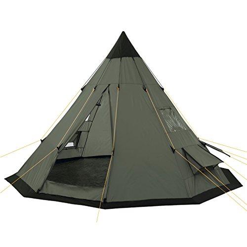 CampFeuer Tienda de Campaña Tipi para Adultos Spirit I 4 Personas I Columna de Agua de 3.000 mm I Ligera I Acampada y Senderismo