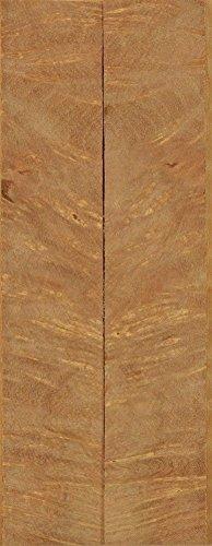 "Satinwood Pyinma Burl (2 pc) Mini Knife/Razor Scale 3/16""x3/4""x5"" 701"