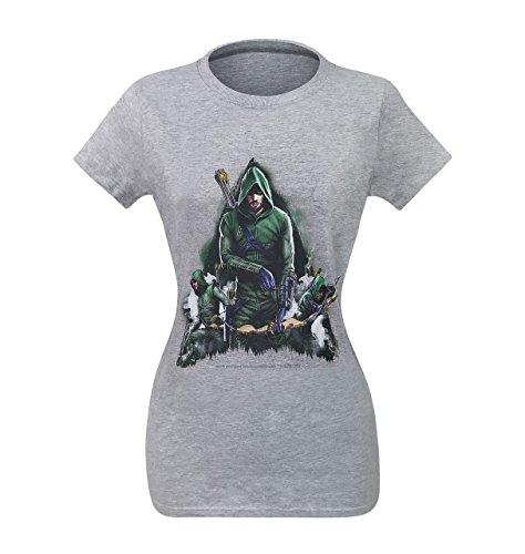 Camiseta feminina Arrow Oliver Queen Armed, Verde, M