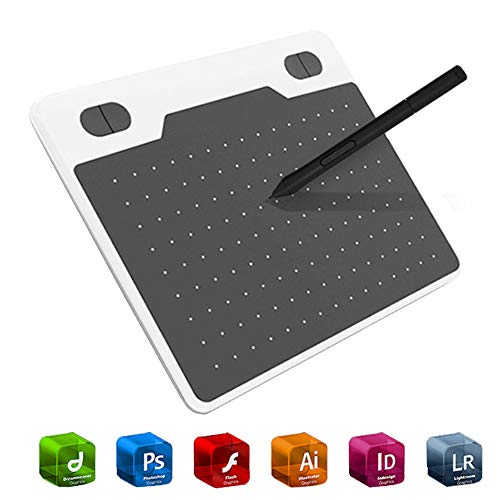 Ejoyduty 10 x 6 grafisch plateau, designed drawing board, met batterijloze styluspen, compatibel met Windows, Mac, PC, Drawing App