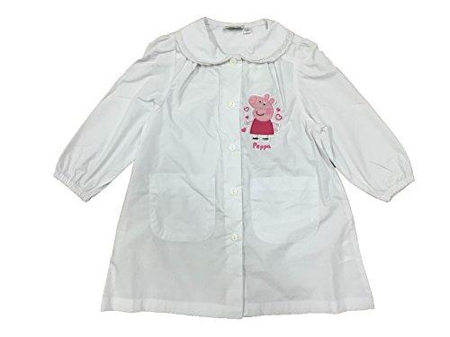 grembiule bianco PEPPA PIG scuola materna (65, PEPPA PIG)