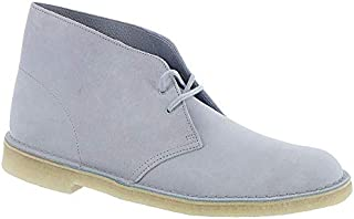 CLARKS Desert Boot Mens Blue Suede Casual Dress Lace Up Chukkas Shoes
