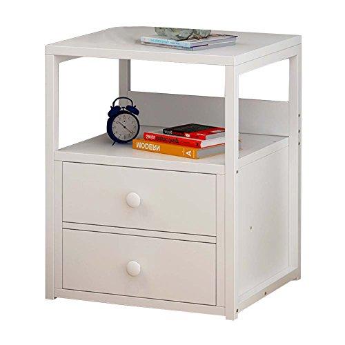 Table de chevet JCOCO Panneau à Base de Bois Chevet, avec tiroirs et tablettes de Rangement, Chambre Casier de Chevet Boîte de Rangement Mini (Couleur : #2)