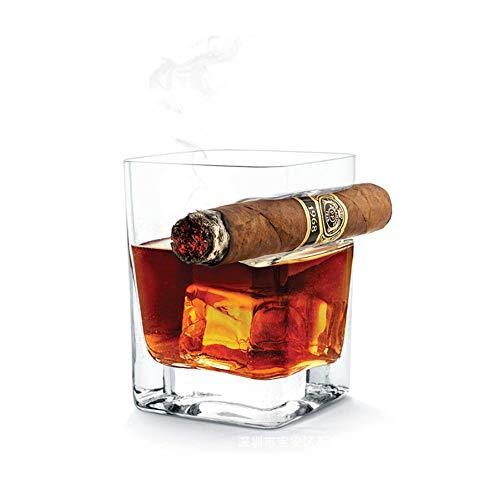 vasos whisky con el sostenedor del cigarro, Pasado de moda copa de brandy, 14 oz 320ml Copa de vino para los amantes del cigarro del cigarro, Regalos de vino