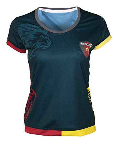 Arza New Women Cameroon Soccer Jersey Green 100% Polyester_Made in Mexico (Large)