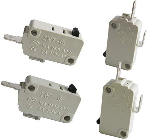 DUDDP Pièces et accessoires pour micro-ondes Réparation de la pièce / 4pcs Micro-interrupteur de la porte du four micro-ondes universel pour DR52 NC + NON (normalement Fermer + Normalement ouvert) 16A