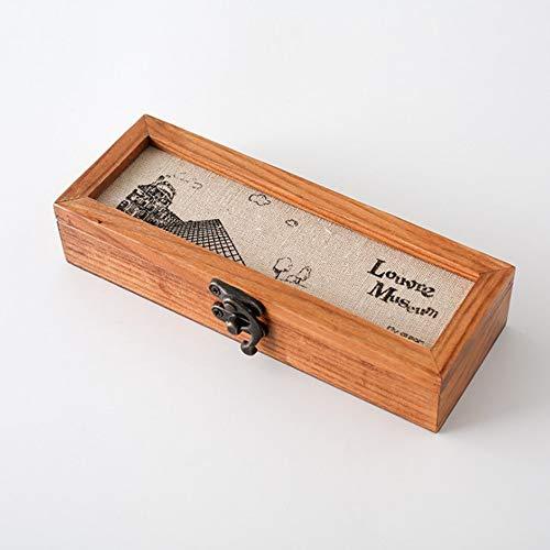 MUY Holzkiste Schmuck Uhr Brillen Bleistift Radiergummi Stempel Schule Briefpapier Lagerung Holz Fall Sammlung Geschenkbox