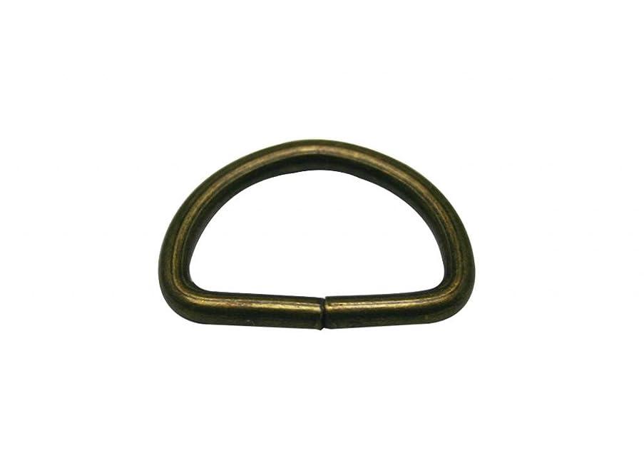 Generic Metal Bronze D Ring Buckle 0.8