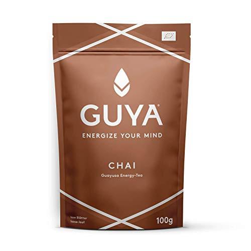 Bio Guayusa Tee lose (Chai) | 100g für 40 Tassen | Kaffee Ersatz | Energize Your Mind | Mit Zimt, Kardamom, Süßholz & Nelken | Kaffee Alternative | Perfekt mit Alternativ-Milch