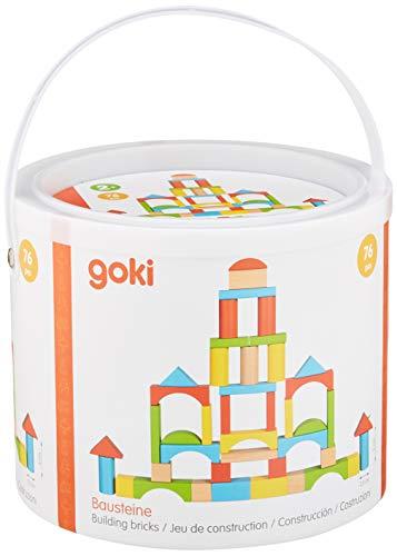 Goki- Barril Juegos de construcción, Color (marrón) (58687)