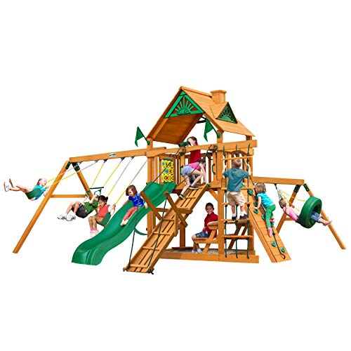 Gorilla Playsets 01-0004-AP Frontier Wood Swing Set with...