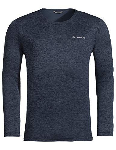 VAUDE Herren T-shirt Men's Essential LS T-Shirt, Langarmshirt, Wandershirt, eclipse, 52, 413257505400