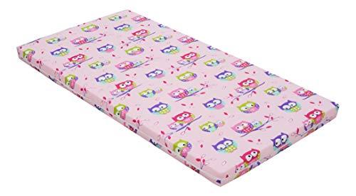 Best For Kids Kinderbettmatratze, Babymatratze 60x120 cm Kinder Rollmatratze 5 cm aus 100{753580702bc99086f743a53ea75b3627fb74712bb6a8a541686993f7a155316a} Baumwolle (rosa)
