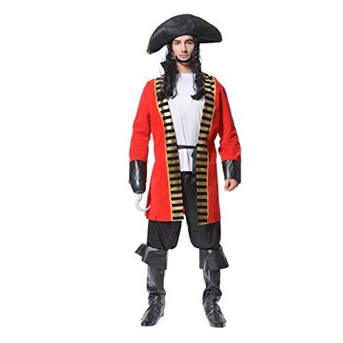 SEA HARE Disfraz de Adulto Earl Pirate Halloween para Hombre