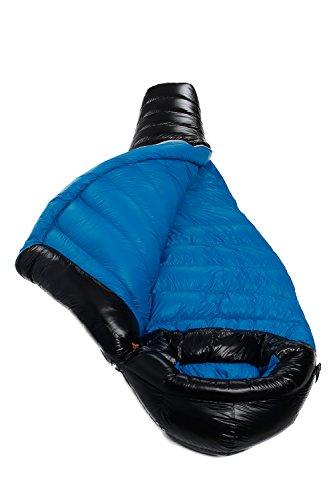 AEGISMAX Ultra Light Goose Down Sleeping Bag for Backpacking 18°F ~28°F 3 Season Mummy Down Sleeping Bag, 800 Fill, Camping, Hiking G2 (Black, Long)
