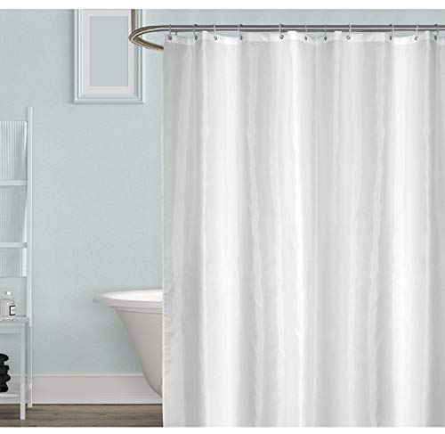 Shower Curtain for Bathroom 72x72 Inches White Fabric Shower Curtain Waterproof Modern Hotel Style Shower Curtain Decorative Bath Curtain Set with 12 Hooks