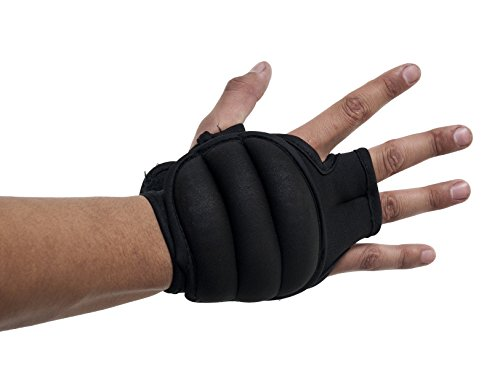 Prosource Fit Weighted Gloves, Pair of 2 lb. Neoprene Hand Weights for Cardio Workouts