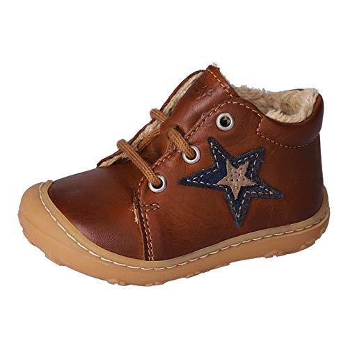 RICOSTA Unisex - Kinder Lauflern Schuhe ROMMI von Pepino, Weite: Mittel (WMS), Kids junior Kleinkinder Kinder-Schuhe,Cognac,22 EU / 5.5 Child UK