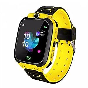 Ruluti 1pc Kids Watch Waterproof Baby Sos Positioning 2g Sim Card Anti-lost Smartwatch Children Clock Call Watch Yellow
