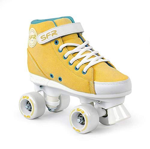 Sfr Skates Vision Sneaker P Skates mit Knöchel und Klettverschluss Jugend Unisex, RS240, Gelb (Mustard), 35.5 EU