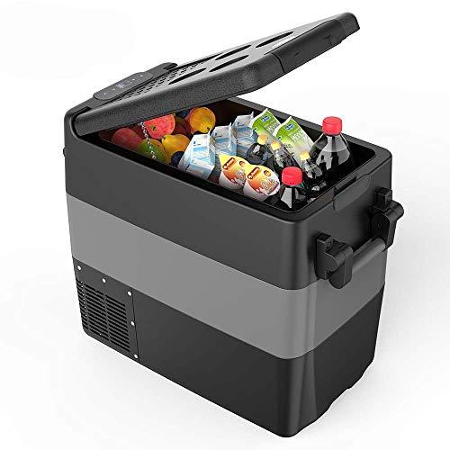Kompressor Kühlbox Gefrierbox, 40L GS geprüfter elektrischer tragbarer Kühlschrank, -18 bis 10 ° C, mit Batteriewächter, 12 V und 230 V für Auto, LKW und Steckdose