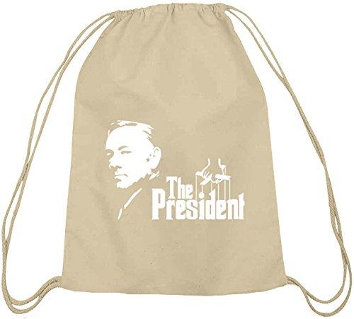 Shirtstreet24, HOC - The President, Baumwoll natur Turnbeutel Rucksack Sport Beutel, Größe: onesize,natur