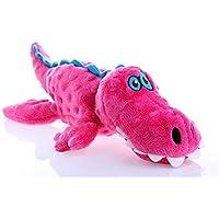 goDog Gators Large Dog Toy with Chew Guard Technology (Pink)