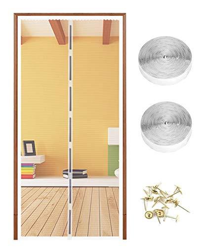 Mosquitera Puerta magnético la Pantalla de Insectos 90 x 210 cm, de luz y transpirable cortina para puerta, protección de Insectos Cortina magnética Mosca Cortina para Sala de Estar balcón