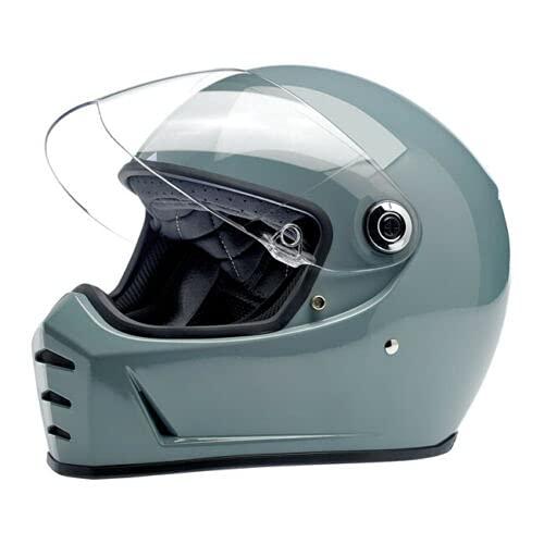 Gafas Biltwell Moto 2.0, color negro, lente transparente, banda elástica, estilo Cafe Racer