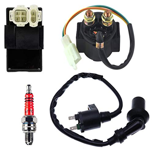 150CC CDI Racing Performance Kit,GY6 Starter Solenoid Relay, AC CDI BOX, Ignition Coil and Spark Plug for 4-Stroke Engine 50cc 150cc ATV Dirt Bikes Scooters Pit Bike Moped 4 Wheeler Parts by BOOTOP