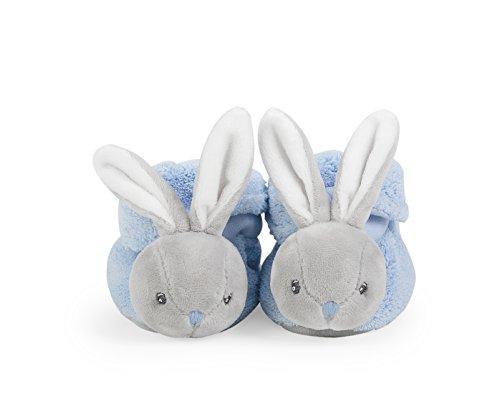 Kaloo K969572 Pantofoline per Neonati Coniglietto, 0-3 Mesi, Blu