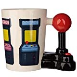 LDJING Console Di Gioco 3D Manico Con Joystick Tazza In Ceramica Maniglia Per Controllo Arcade Retrò Collezione Di Tazze Da Caffè Regalo-400 Ml