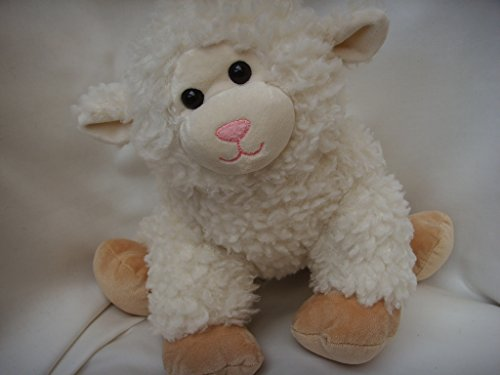"Build a Bear Workshop White Sheep Lamb Plush Toy Large 15"" Easter Basket Collectible"