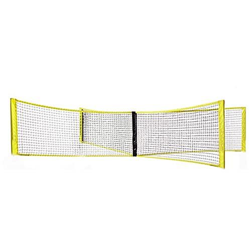 AoFeiKeDM Red de voleibol con cuatro lados estándar para playa, voleibol, red portátil, juego de red de bádminton, apto para tenis, fútbol, tenis, pickleball, voleibol, niños