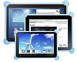 Color Dreams Funda Tablet Silicona Universal Compatible con Cualquier Tablet de Cualquier tamaño como 7', 8', 9', 9.7', 10.1 Azul