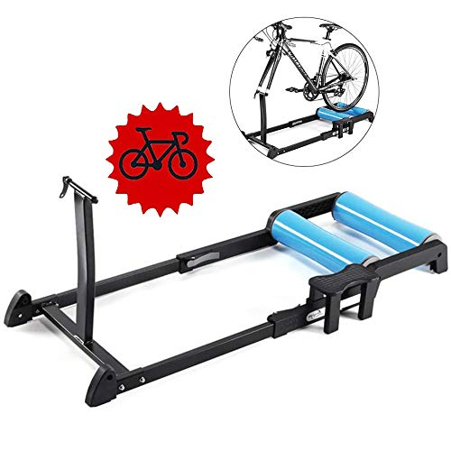 Inklapbare Bike Trainer - vouwfiets Training Bracket Trainer Bike Rollers MTB wegfietsen Roller hometrainer Station Resistance Exercise Fitness Machine