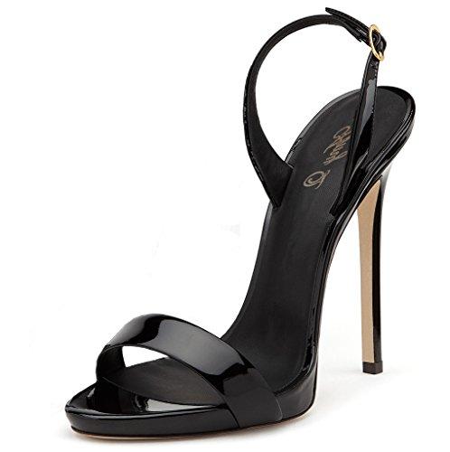 UH Damen Chunky Heels Stiefeletten Blockabsatz Ankle Boots mit Perlen Süße Schuhe