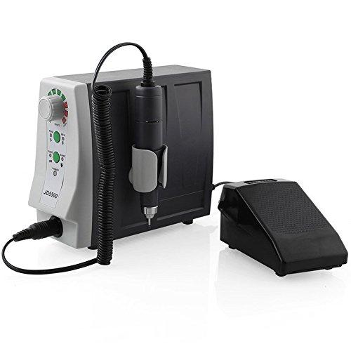 Nagelfräser 35000 U/Min Premium JD5500 Mit Fußpedal Stufenloses Regulieren Inkl4 Bits