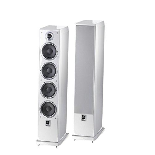Ascada 600 Tower | Vollaktives kabelloses High-End-Lautsprechersystem | hochwertige Eingänge (optisch, Coax, USB, Bluetooth, aptx) | 1 Paar - weiss