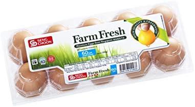 Seng Choon Farm Fresh Eggs, 10 X 60 g